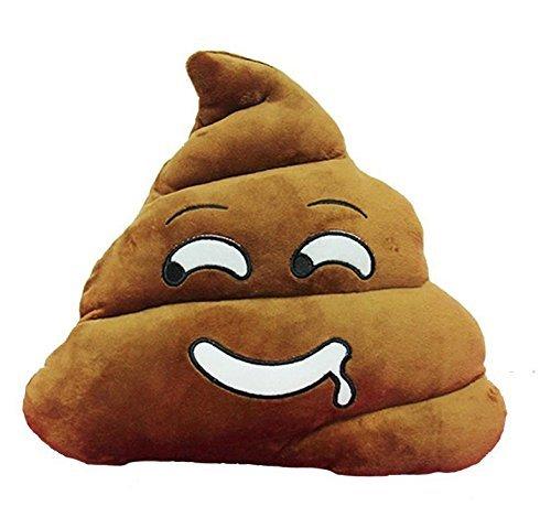 Emoji-Cuscino peluche, motivo: pila di Poop/Poo-Cuscino Smiley, Emoticon