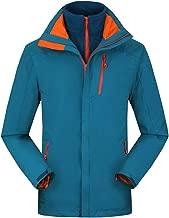 $62 » ASOBIMONO Men's Waterproof 3 in 1 Ski Jacket Hooded Windbreaker Warm Fleece Liner Coat