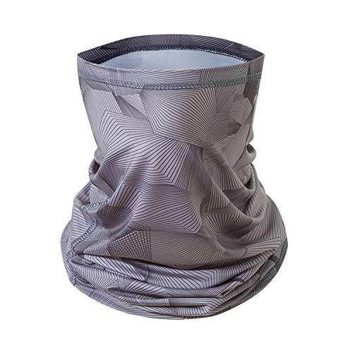 Face Mask Bandanas Ice Silk UV Protection,Face Scarf Neck Gaiter, Scarf Bandanas Neck Gaiter, Multi Functional Balaclava,Headwear Headband for Sports and Outdoors (Gray)