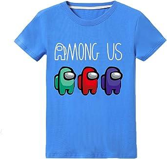 Camiseta Divertida para niños Among Us Gaming Impostor Character Niño Niña Camiseta Gamer Top 5-13 años