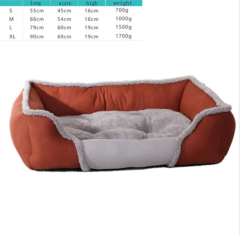 Desti Flakes Creative cat Litter. Warm pet nest, Breathable Kennel(Cloth) (color   Brown, Size   M)