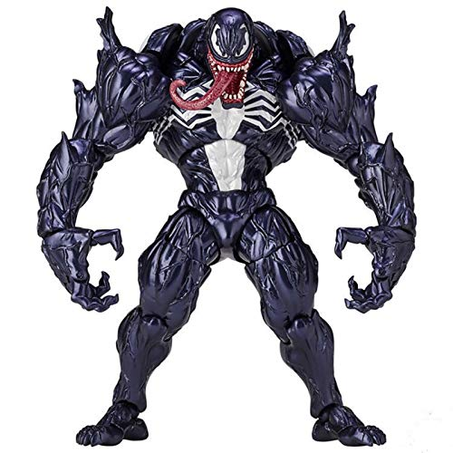 HizoeChu Venom Action Figure, Venom Eddie Brock Series Toys No.003 Freely Shaped PVC Collectible Toy Hand-Made Model Super Garage Kit for Children Games Decoration Model Collector