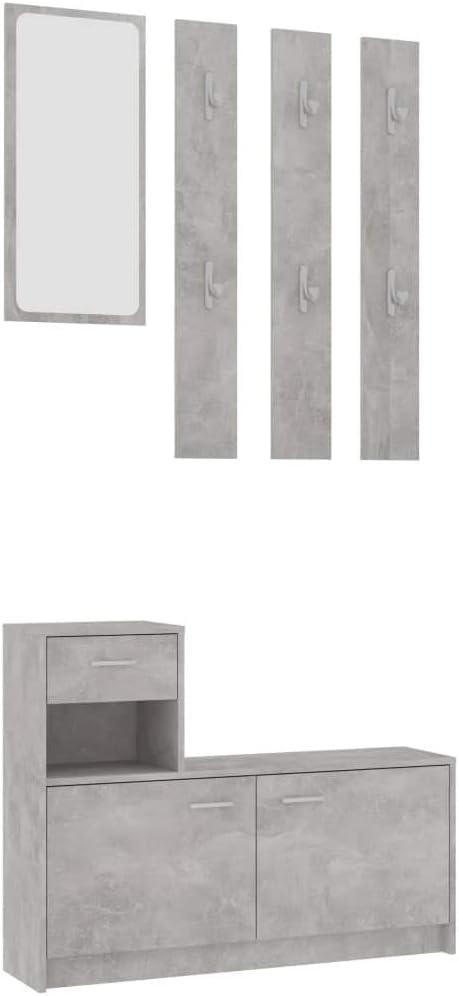 宅配便送料無料 買い物 vidaXL Hallway Unit Wardrobe Cabinet Mirror Furniture Cloak Hall