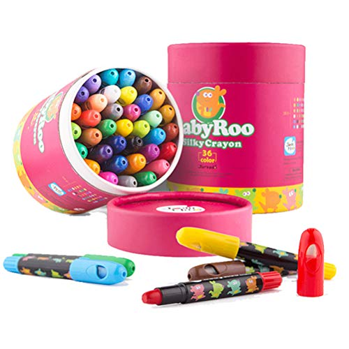 Kids Crayon Washable,Jumbo,Twistable Crayon for Toddler,Non Toxic,Gel Window Crayons for Children,Coloring Crayon for Toddler(36 colors)