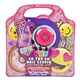 Charming Charlie On-The-Go Nail Studio Kit - Nail Polish, Sticker Decals, File, and Mini Express Nail Dryer - Hot Pink