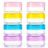 8Pc Clear Travel Pots 20ml for Cosmetic Cream Makeup Container Tub