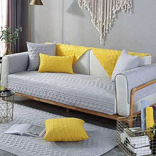 Jonist Funda de sofá para lijar, Antideslizante, cojín de Asiento Simple, Funda de Almohada para sofá, Elegante, Duradera, gris-70X240cm