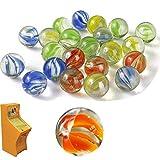 dancepandas Kleine Glasmurmeln 100PCS Bunte Murmeln Klare Glasmurmeln Geeignet zum Spielen von Marmorwild und Vase Aquarium Dekoration (Zufällige Farbe)