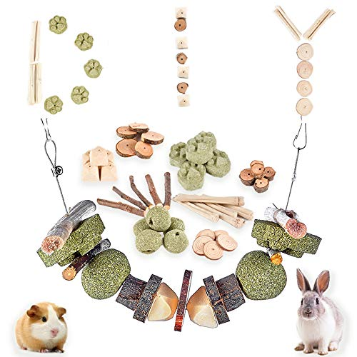 PETLAOO DIY Rabbit chew Toys, Chew Treat, Make a Unique chew Toy for Small Animals, Suitable for Rabbits, Chinchillas, Guinea Pigs, Hamsters, Chewing/Playing(40 pcs)… (40 PCS)