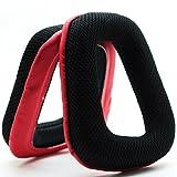 MMOBIEL Almohadillas de Reemplazo para Auriculares Compatible con Logitech G35 G930 G430 F430F450(Rojo/Negro)