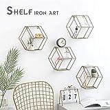 Diafrican - Estantería de pared hexagonal, decoración geométrica mural para...