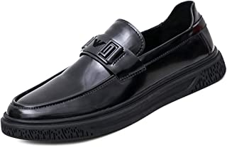 CHENTAOCS Leather Shoes, Youth British Black Business Casual Shoes