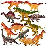 HERSITY 12 Pièces Gros Dinosaure Figurine 17,5 cm Réaliste Dinosaure Enfant Jouet Jeux Éducatifs Cadeaux pour Garçons Filles 3 4 5 6 Ans