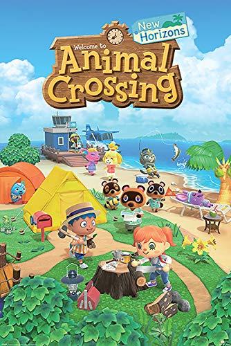 Animal Crossing Maxi Poster New Horizons 61 cm x 91.5 cm , multicolore