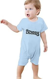 Lacrosse Baby Short Sleeve Rompers Summer Pajama Jumpsuit Bodysuit Coveralls