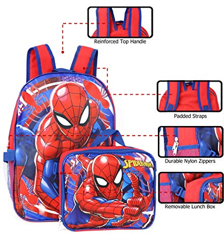 Product Image 2: Spiderman Marvel 16″ Backpack with Detachable Lunch Box