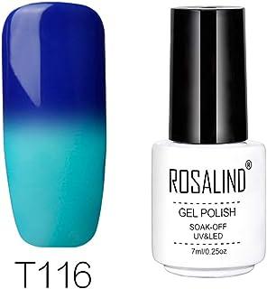 Rosalind - Esmalte permanente pintauñas gel uv y led de uñas con cambio de temperatura 7 ml color blanco