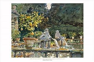 Buyartforless Villa Di Marlia, Lucca: A Fountain, 1910 by John Singer Sargent 24x36 Art Print Poster Famous Painting Figur...