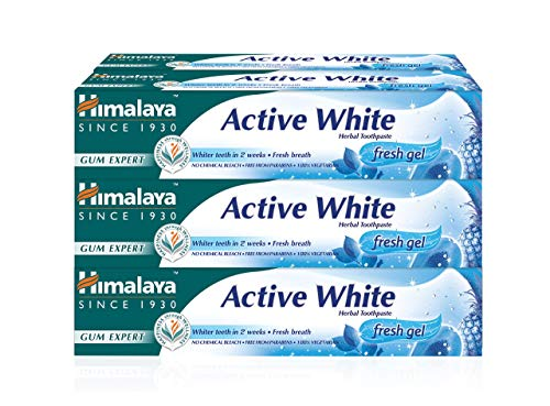 Himalaya Active White Fresh Gel, whitening toothpaste with fruit enzymes, 75 ml (6 PACK)