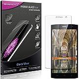 SWIDO Panzerglas Schutzfolie kompatibel mit Homtom HT7 Pro Bildschirmschutz-Folie & Glas = biegsames HYBRIDGLAS, splitterfrei, Anti-Fingerprint KLAR - HD-Clear