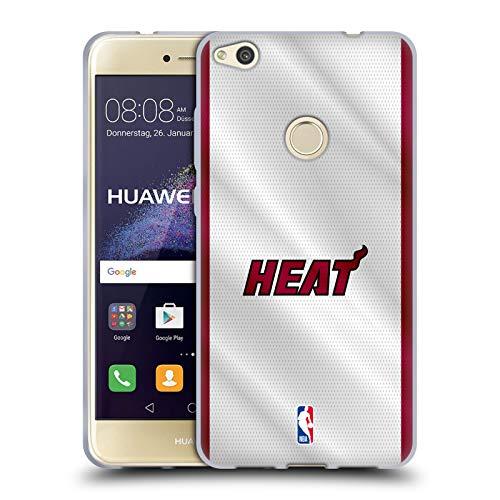 Oficial NBA Jersey Miami Heat Carcasa de Gel de Silicona Compatible con Huawei P8 Lite (2017)