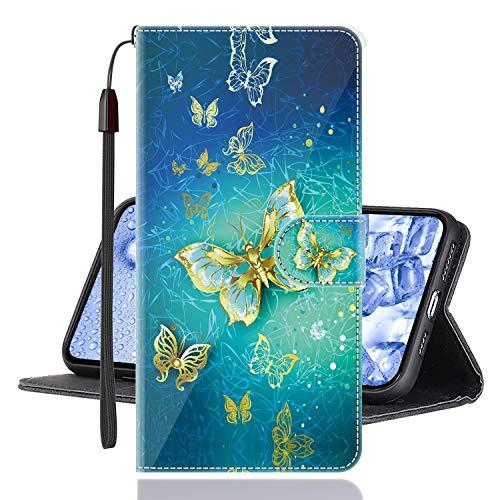 Sinyunron Klapphülle für Handy Xiaomi Mi Mix 3 5G Hülle Leder Brieftasche Handytasche,Klapptasche Lederhülle Hüllen Hülle Schutzhülle Tasche Cover (Hülle-05B)