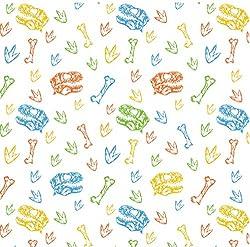 4. Stesha Party Dinosaur Wrapping Paper Sheets