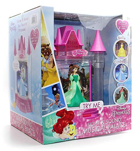 Playthings Disney Princess Light & Sound Musical Palace - Belle, Cinderella & Ariel