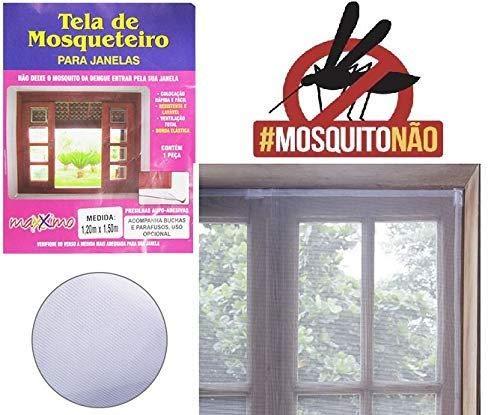 Tela Mosquiteira Protetora 120x150 Janela Anti Insetos Mosquitos
