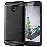 Galaxy J7 2018 Phone case,Galaxy J7 Refine/J7 V 2nd Gen/J7 Star/J7 Top/J7 Crown/J7 Aura Cases Shock Absorption Slim TPU Carbon Fiber Pattern Protective Case Cover for Samsung Galaxy J7 2018(Black)