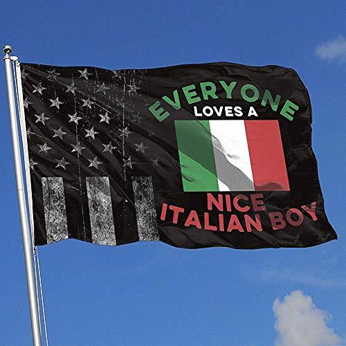 Elaine-Shop Banderas al Aire Libre desgastadas Bandera de EE. UU. Bandera de niño Italiano Bandera de 4 * 6 pies para decoración del hogar Fanático de los Deportes Fútbol Baloncesto Béisbol Hockey
