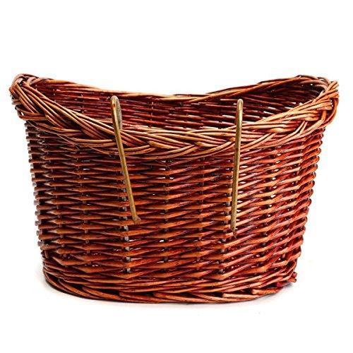 TOOGOO Panier de velo en osier Vintage marron Sangle reglable Velo/Cycle/Shopping