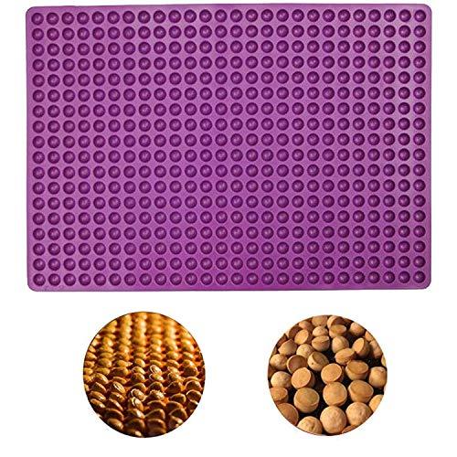 N/U Silikon-Backmatte – Silikonmatte halbkugelförmig 1,2 cm mit Knöpfen – Backform für Kekse und Leckerlis für Hunde, 38,5 x 27,5 cm