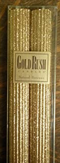 Deluxe 18 Inch Natural Beeswax Glitter Candles, Gold Color, Boxed Set of 2 Candles