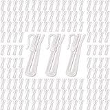 Gancho Cortina, 100 Piezas Clips de Cortina Plástico, Enrollable Ganchos de Cortina, Plástico Blanco para Cortina de Cortina, para Windows Cortinas, Cortina de Puerta y Cortina de Duchain