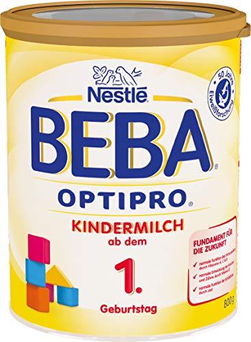 Nestlé BEBA OPTIPRO Kindermilch, ab dem 1. Geburtstag, für eine altersgerechte Ernährung, Milchgetränk mit den Vitaminen A, C & D, 1er Pack (1 x 800g)