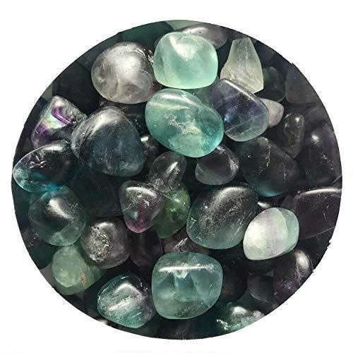 OYZK 100g 15-20mm Natural de fluorita de Cristal de Cuarzo Piedras en Bruto Grava Pulido de muestras de Piedra curativo Colección Hogar (Color : 15 20mm)