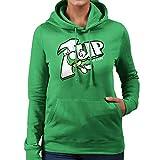 1Up Super Mario Bros Green Mushroom 7Up Logo Women's Hooded Sweatshirt