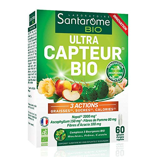Ultra Capteur Bio | Capteur de Graisses, Sucres, Calories - A base de Nopal | 120 Gélules