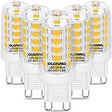 Bombilla LED G9, 4000 K, luz blanca neutra, bombilla LED de 3,5 W, 450 lúmenes, repuesto para bombillas halógenas de 40 W, ángulo de haz de 360°, CRI 80, no regulable (5 unidades)