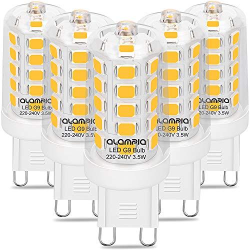 Bombilla LED G9, 4000 K, luz blanca neutra, bombilla LED de 3,5 W, 450 lúmenes, repuesto para bombillas halógenas de 40 W,...