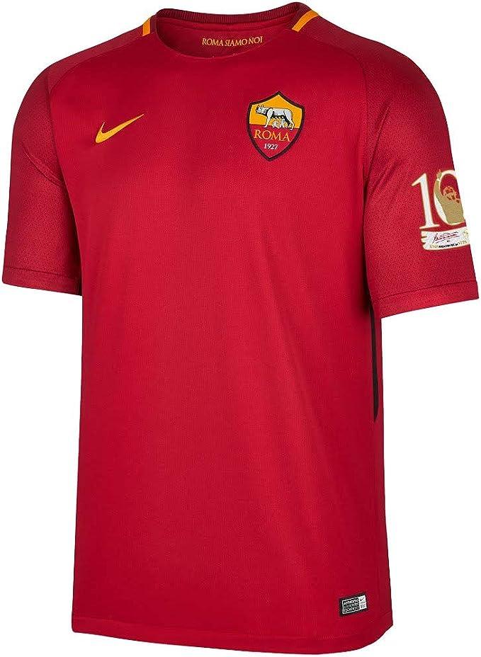Maglia AS Roma Home 2017/2018 patch ufficiale Totti 10 Tribute