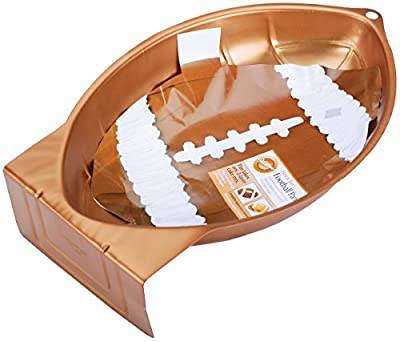 Wilton First and Ten Football Cake Pan, Take Your Next Game Night to the End zone, 12 x 7 Inches