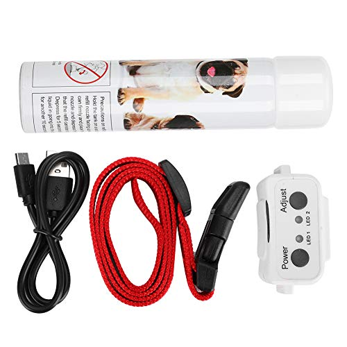Tapón de corteza para mascotas, tamaño pequeño, no tóxico, para evitar ladridos de gas (rojo y blanco, juego de tapones de ladrido, rosado)