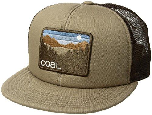 Coal Herren The Hauler Mesh Back Trucker Hat Adjustable Snapback Cap Kappe, Dunkles kaki, Einheitsgröße