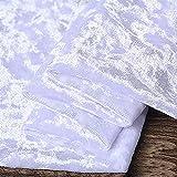 Tela de terciopelo terciopelo por metro blanco puro ancho 160 cm para fondo de boda, tela de costura, disfraces, tapicería, manualidades (tamaño: 300 cm)