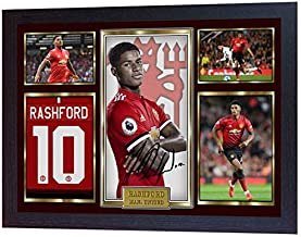 S&E DESING New Marcus Rashford Autographed Manchester United Photo Printed Signed Framed