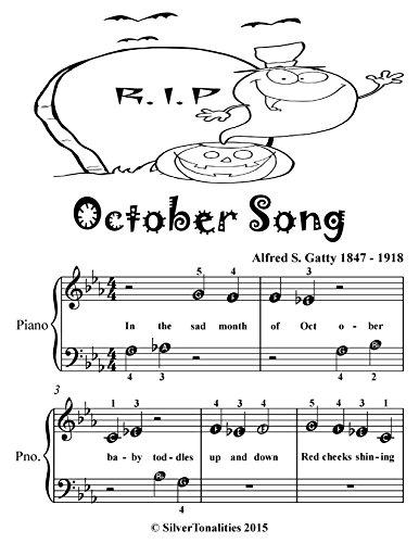 October Song Beginner Piano Sheet Music Tadpole Edition (English Edition)