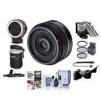 Rokinon 35mm f/2.8 AF 超コンパクトレンズ Sony Eマウント用 - 49mmフィルターキット、LensAlign MkIIフォーカスキャリブレーションシステム、ピークレンズ交換キットアダプターPCソフトウェアパッケージなど