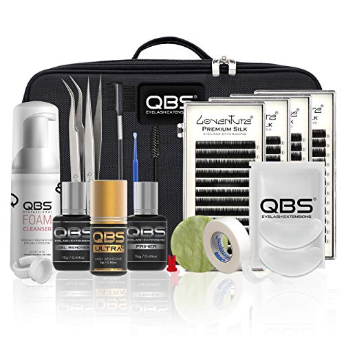 QBS® Kit de extensión de pestañas profesional - Loventure® Silk Lash